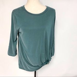 Green Envelope Green Knot Top, Size Small. NWT
